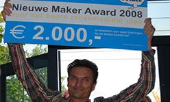 Nieuwe Maker Award 2008 voor Jerry Rijstenbil